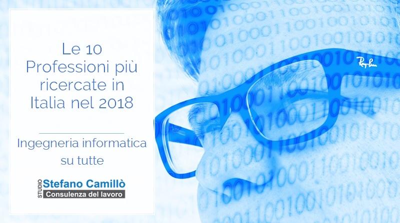 Le 10 professioni più ricercate nel 2018 in Italia